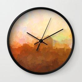 Albuquerque, New Mexico Skyline - Clouds Wall Clock