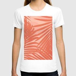 Terracotta Palm Leaves / Sunset Illustration T-shirt
