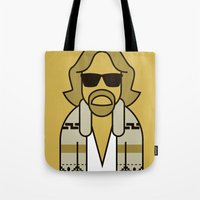 the dude Tote Bags featuring Dude by Ale Giorgini