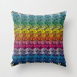 Escher Fish Rainbow Pattern Throw Pillow