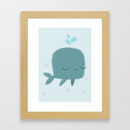 happy whale Framed Art Print