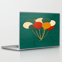 balloons Laptop & iPad Skins featuring Balloons  by Laura Santeler