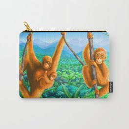 Orangutan and Baby Carry-All Pouch
