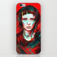 portrait iPhone & iPod Skins featuring Wasp by Alice X. Zhang