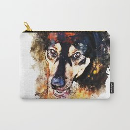 dog 3 splatter watercolor Carry-All Pouch