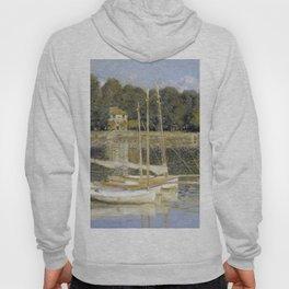 1874-Claude Monet-The Argenteuil Bridge-60 x 80 Hoody