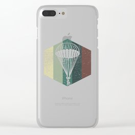 Vintage Skydive Jumping Skydiving Gift Clear iPhone Case