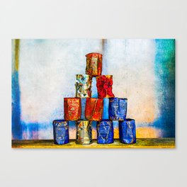 Soup Cans - After The Lunch Canvas Print