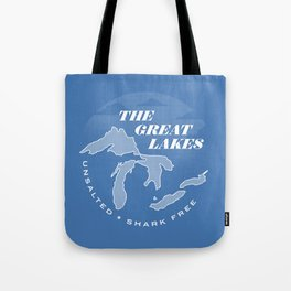 The Great Lakes - Unsalted & Shark Free (Inverse) Tote Bag