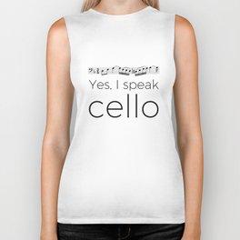 I speak cello Biker Tank