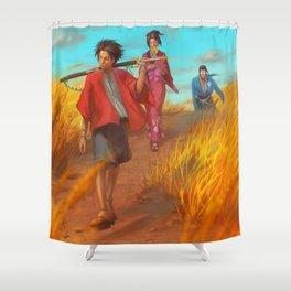 Searching of the Sunflower Samurai Shower Curtain
