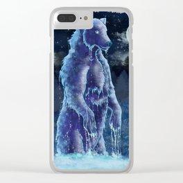 Moon Bear Clear iPhone Case