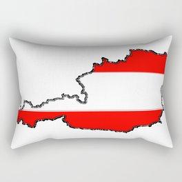 Austria Map with Austrian Flag Rectangular Pillow