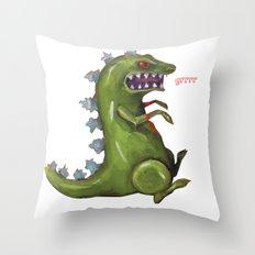 grrrr Throw Pillow