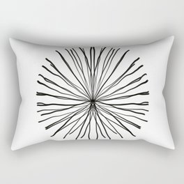 Black Coral Rectangular Pillow