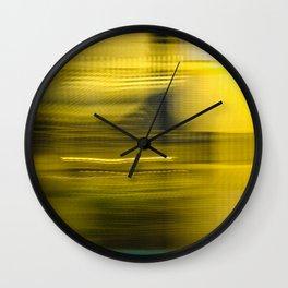 Yellow Lights Speed Effect Wall Clock