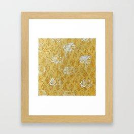 Elephant Pattern on Jaisalmer Yellow Framed Art Print