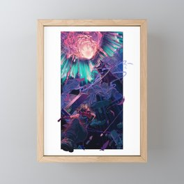Reunion (cyan) Framed Mini Art Print