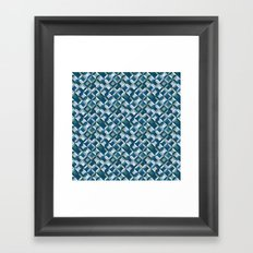 colorful geometric diamonds ocean colors Framed Art Print
