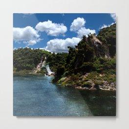 Frying Pan Lake, New Zealand Landscape Metal Print