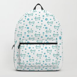 Rub a dub dub, bubbles and a bathtub (white) Backpack