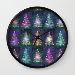 Christmas greetings from the cosmos Wall Clock