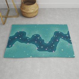 Aqua Rift Galaxy (8bit) Rug