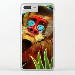 """Henri Rousseau """"Mandrill in the Jungle"""", 1909 Clear iPhone Case"""