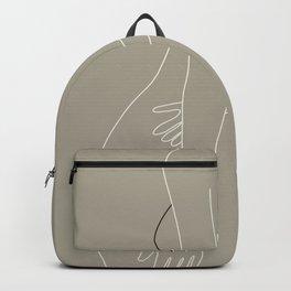 Minimal Line Art Woman Figure III Backpack