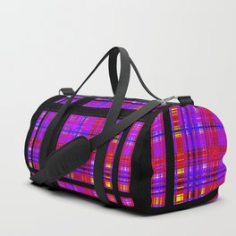 Unicorn Plaid Squares Duffle Bag