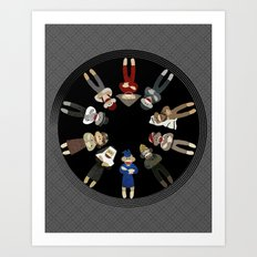 Sock Monkeys of the World Art Print