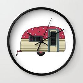 Polka dot Campervan Wall Clock