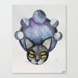 Double Vision Space Cats Canvas Print