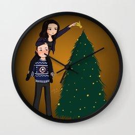 ugly xmas sweater philinda Wall Clock