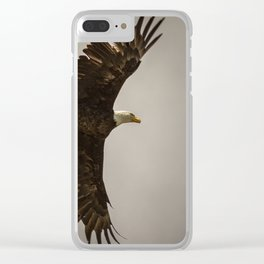 Bald Eagle taking flight Clear iPhone Case