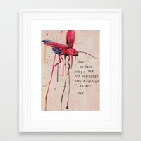 firefly Framed Art Prints featuring FIREFLY by MEERA LEE PATEL