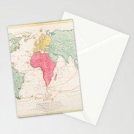 Mathieu Albert Lotter - Mappe Monde ou Carte générale de l'Univers Stationery Cards