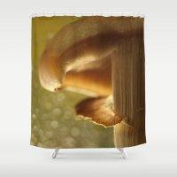 mushroom Shower Curtains featuring Mushroom... by Nature In Art...