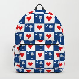 flag of south carolina with hearts Backpack