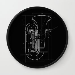 Geometric Tuba Wall Clock