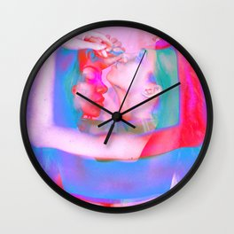 Neon Females Wall Clock