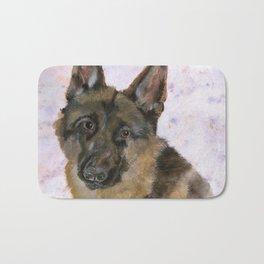 Portrait of a German Shepherd Bath Mat