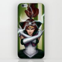 sailor jupiter iPhone & iPod Skins featuring Sailor Jupiter by fatelephant