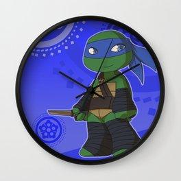 TMNT Chibi Leo Wall Clock