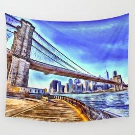 Brooklyn Bridge New York Art Wall Tapestry