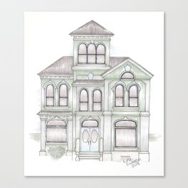Green Italianate Victorian Canvas Print
