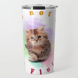 Fluffy Cat Travel Mug