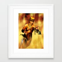 justice Framed Art Prints featuring Justice by MarcosDK