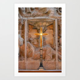 Christchurch Priory - Jesus on the Cross Art Print