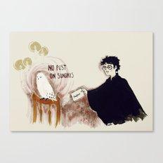 no post on sundays Canvas Print